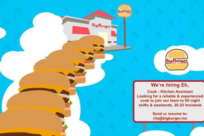 Big Burger Charlottetown Mall food court